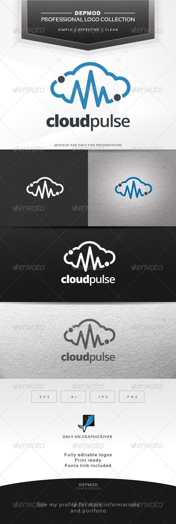Cloud Pulse Logo - Symbols Logo Templates
