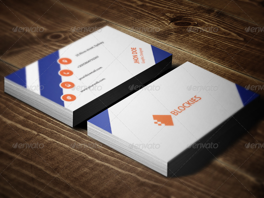 3 Colors Corporate Business Card by kazierfan | GraphicRiver