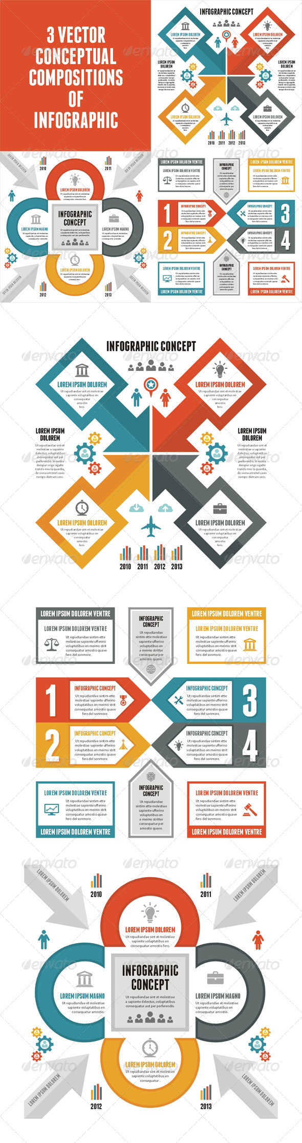 3 Infographic Concept for Presentation  - Infographics