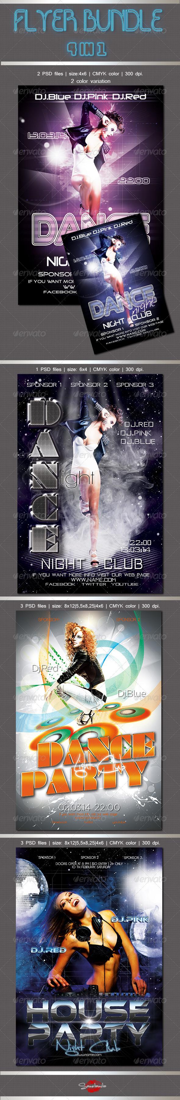Dance Flyers Bundle - Clubs & Parties Events