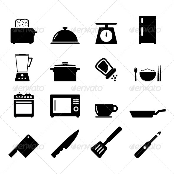 Kitchen Icon - Objects Vectors