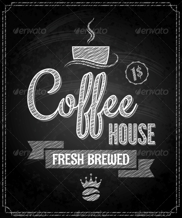 coffee menu design chalkboard background by pushkarevskyy graphicriver