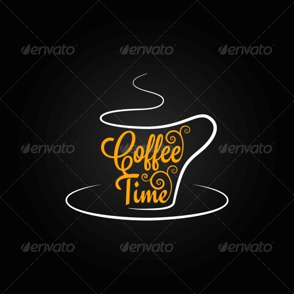 Coffee Cup Sign Design Background - Food Objects