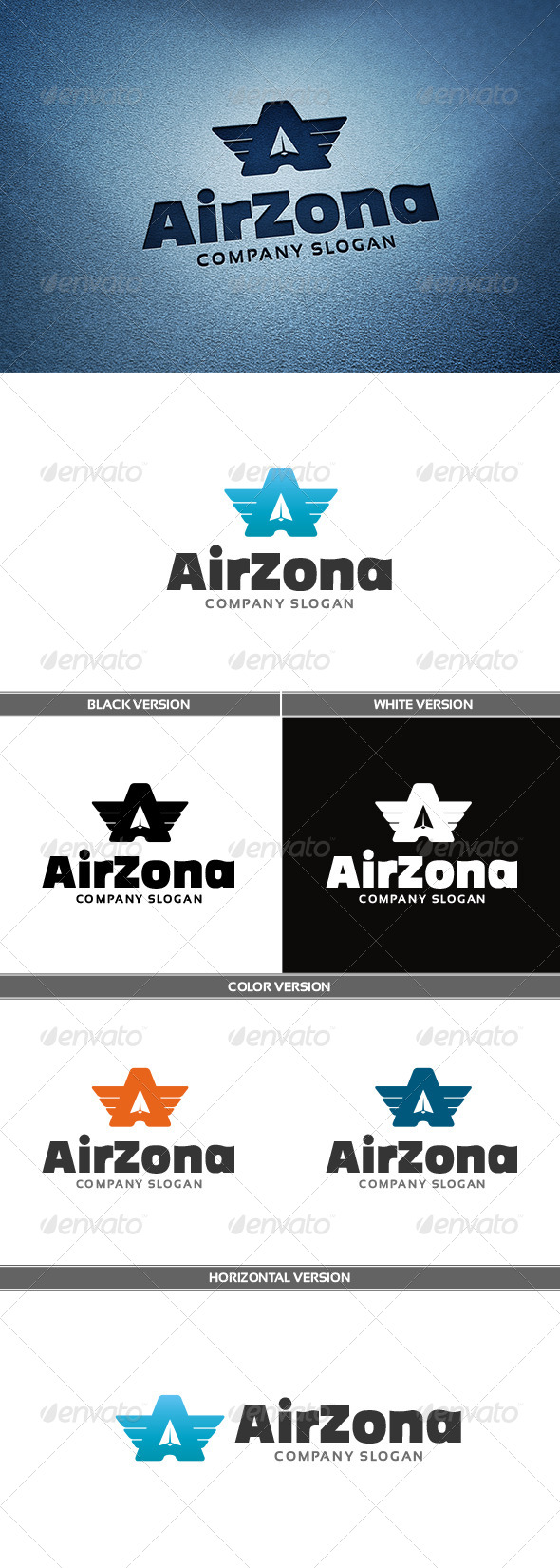 Airzona Logo - Letters Logo Templates