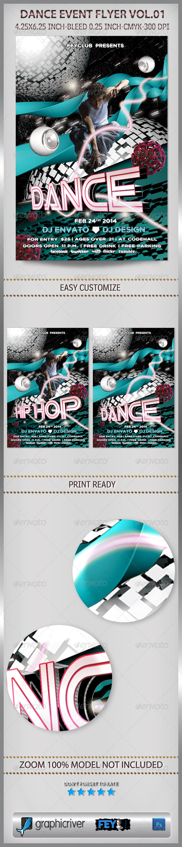 Dance Event Flyer Vol.01 - Events Flyers