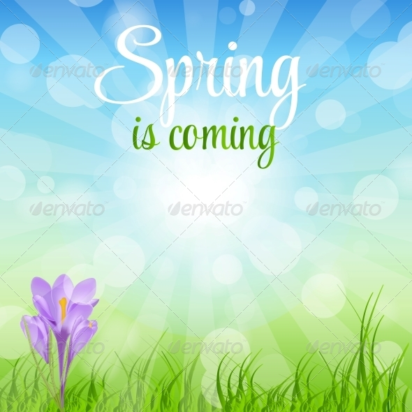 Spring Green Background - Vector - Flowers & Plants Nature