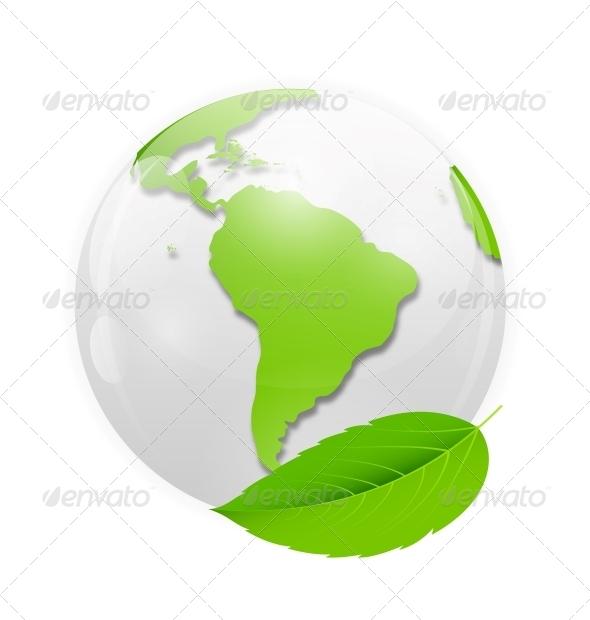 Green Eco Planet Concept Vector Illustration - Flowers & Plants Nature