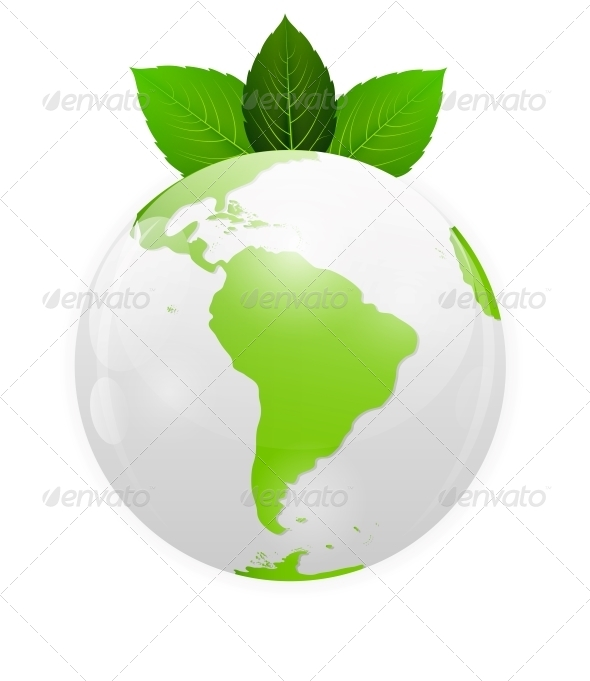 Green Eco Planet Concept Vector Illustration - Flowers & Plants Nature
