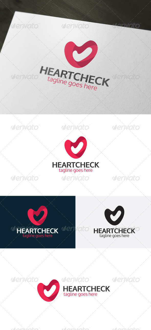 Heart Check Logo - Symbols Logo Templates