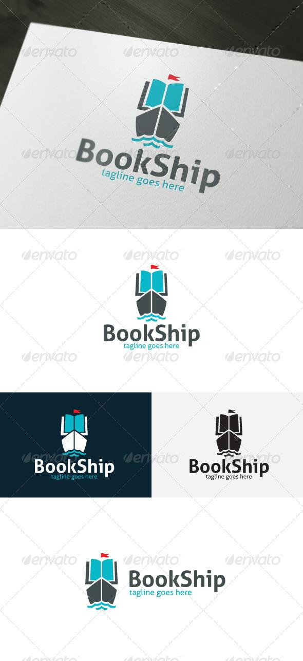 Book Ship Logo - Symbols Logo Templates