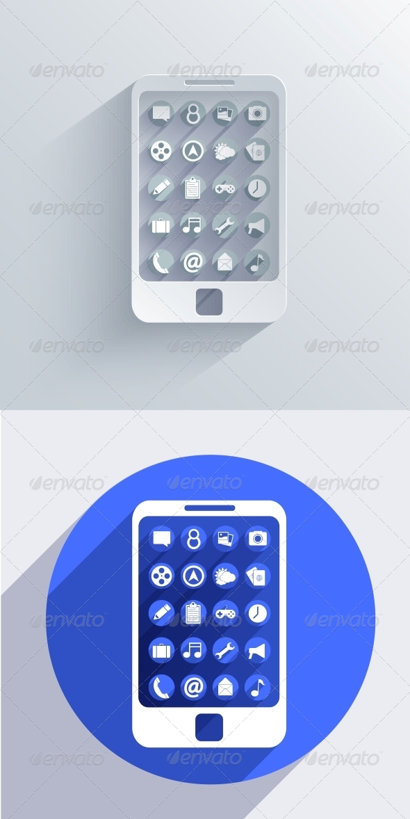 Vector Smartphone Icon Background. EPS10 - Web Technology