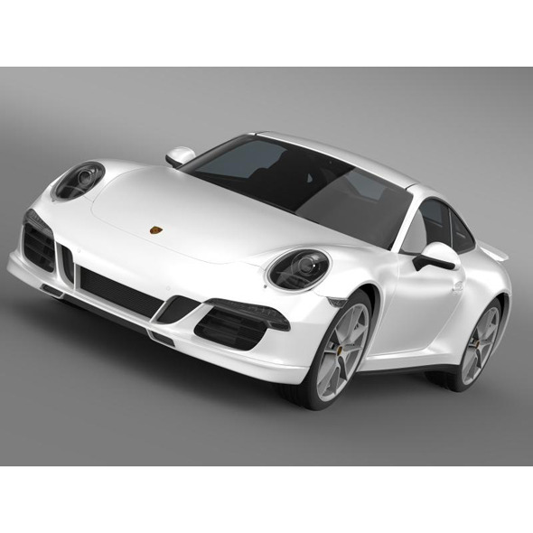 Porsche 911 Carerra 4S Facebook 5M1 - 3DOcean Item for Sale