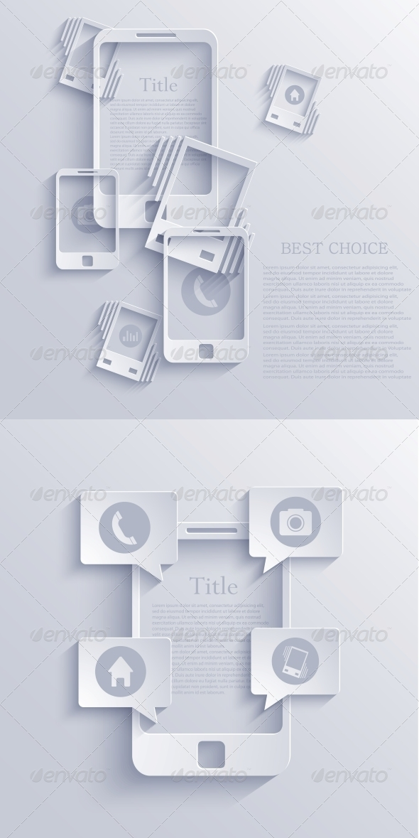Vector Smartphone Icon Background. EPS10 - Backgrounds Business