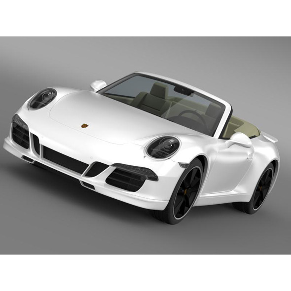 Porsche 911 Exclusive Cabrio - 3DOcean Item for Sale