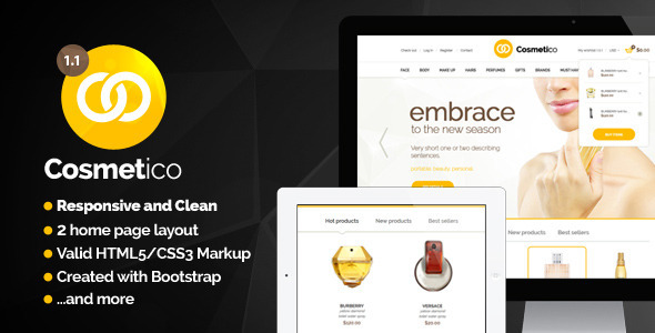 Cosmetico – Modern Beauty Shop Template