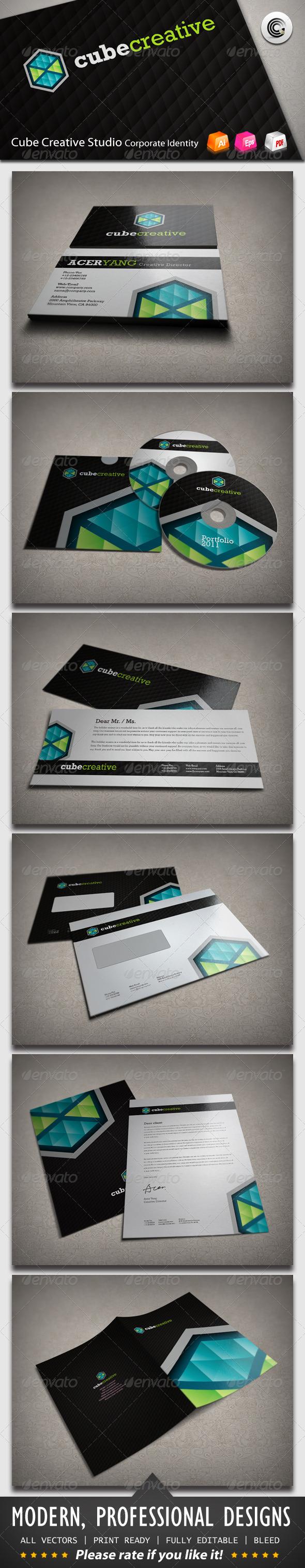 Cube Creative Corporate Identity - Stationery Print Templates