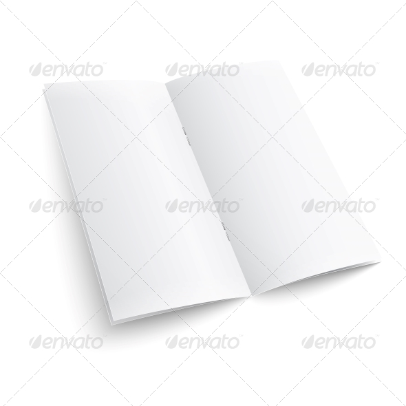 Blank Paper Brochure with Clips - Man-made Objects Objects