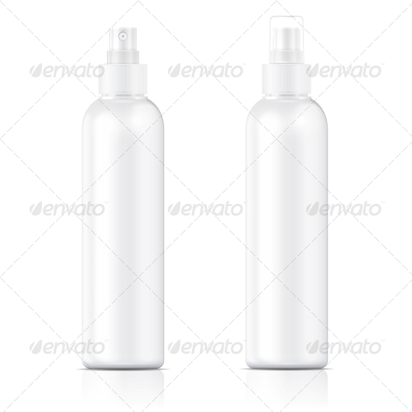 White Sprayer Bottle Template - Man-made Objects Objects