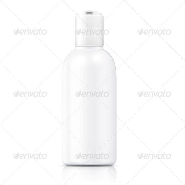 White Lotion Bottle Template - Man-made Objects Objects