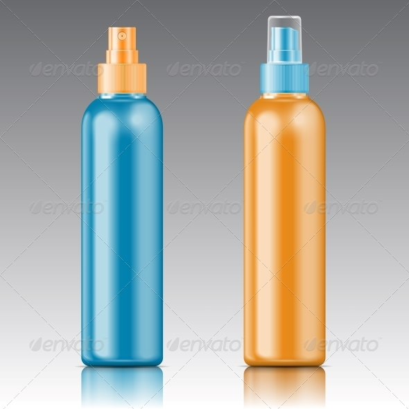 Colored Sprayer Bottle Template - Man-made Objects Objects