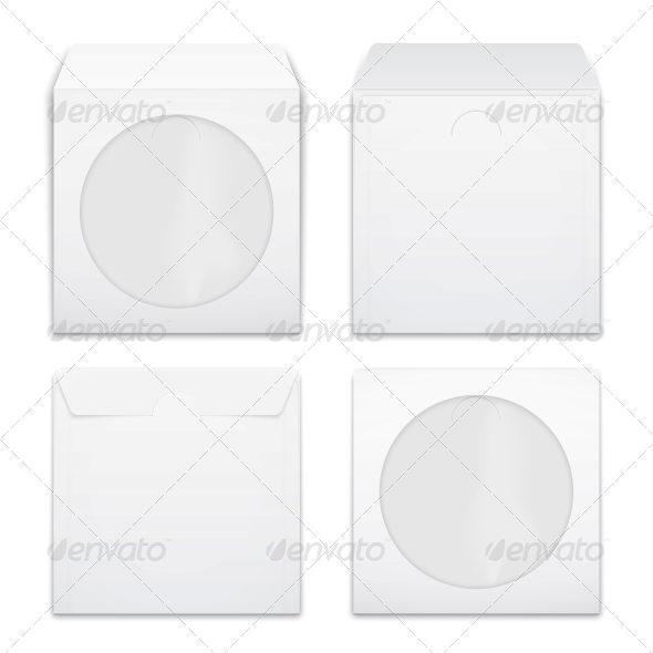 Blank Compact Disc Envelopes - Man-made Objects Objects