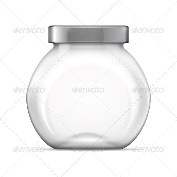 Empty Glass Jar - Man-made Objects Objects