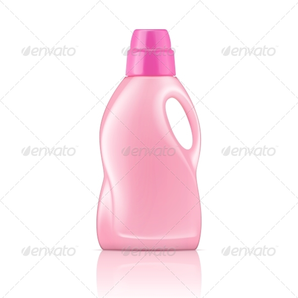 Pink Liquid Laundry Detergent Bottle - Man-made Objects Objects