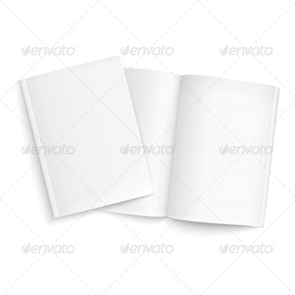 Couple of Blank Magazines Template - Man-made Objects Objects
