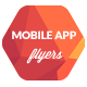 Mobile Application Promotion Flyers / Phone App 3 - GraphicRiver Item for Sale