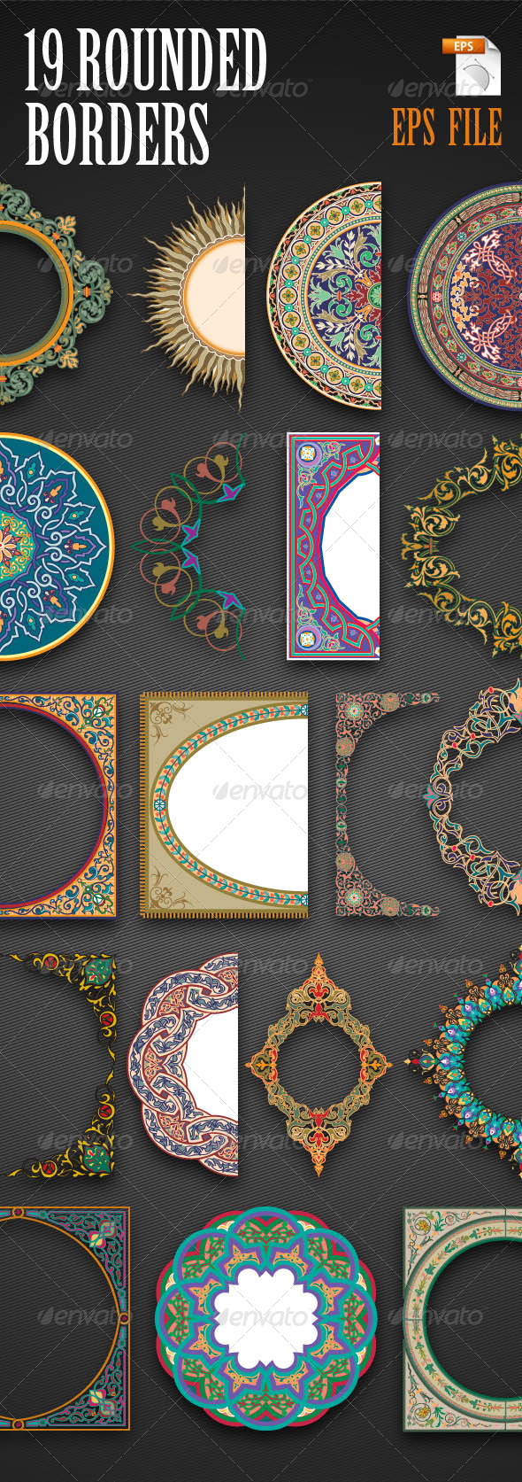 19 Rounded Borders - Borders Decorative
