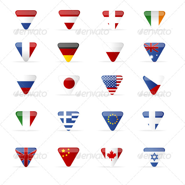 Vector World Flags Triangle  - Miscellaneous Vectors