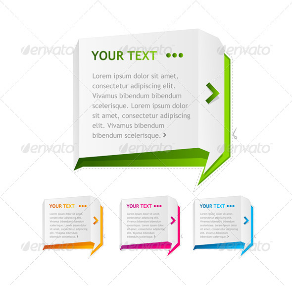 PaperSpeech Templates Set - Web Elements Vectors