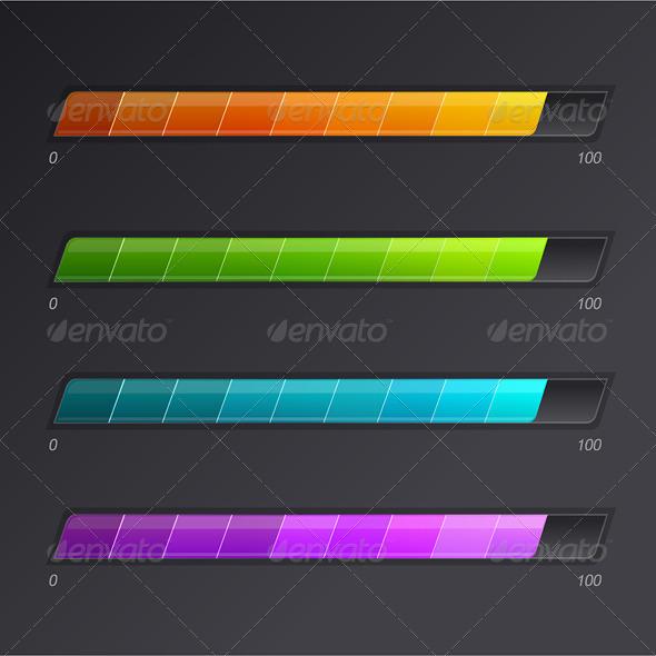 Progress Loading Bars  - Web Elements Vectors