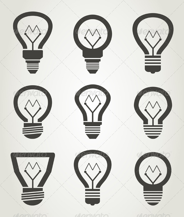 Bulb Icons - Retro Technology