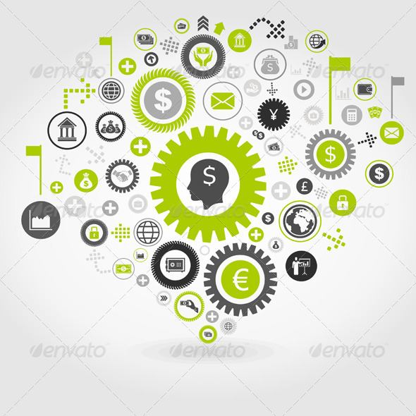 Business Gear Wheel 3 - Concepts Business
