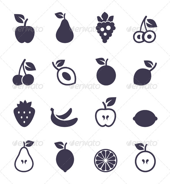 Icon Fruit - Food Objects