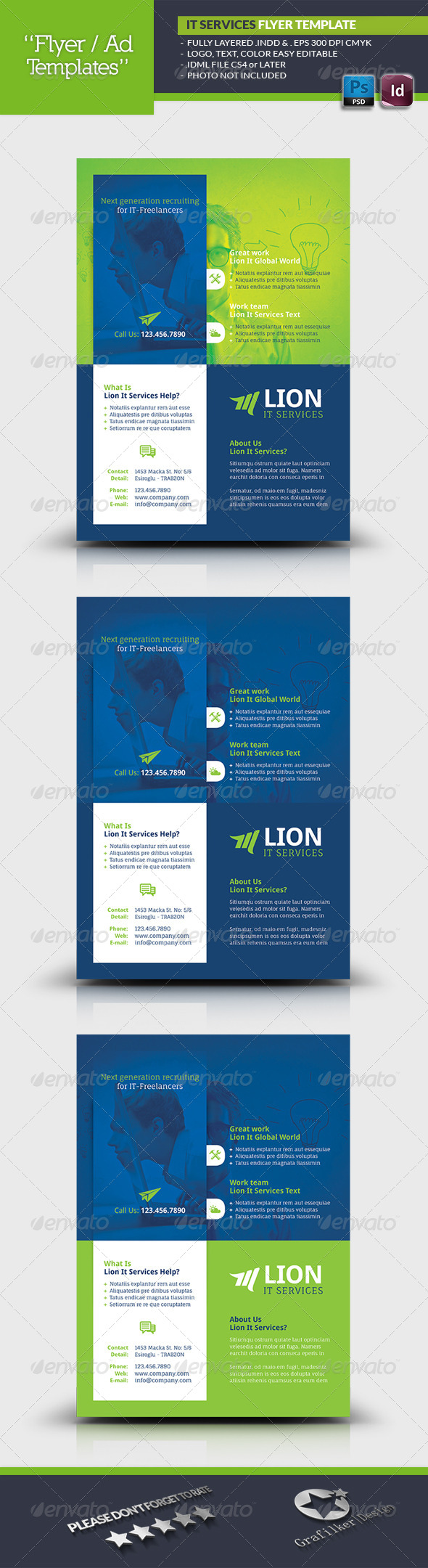 IT Services Flyer Template - Corporate Flyers