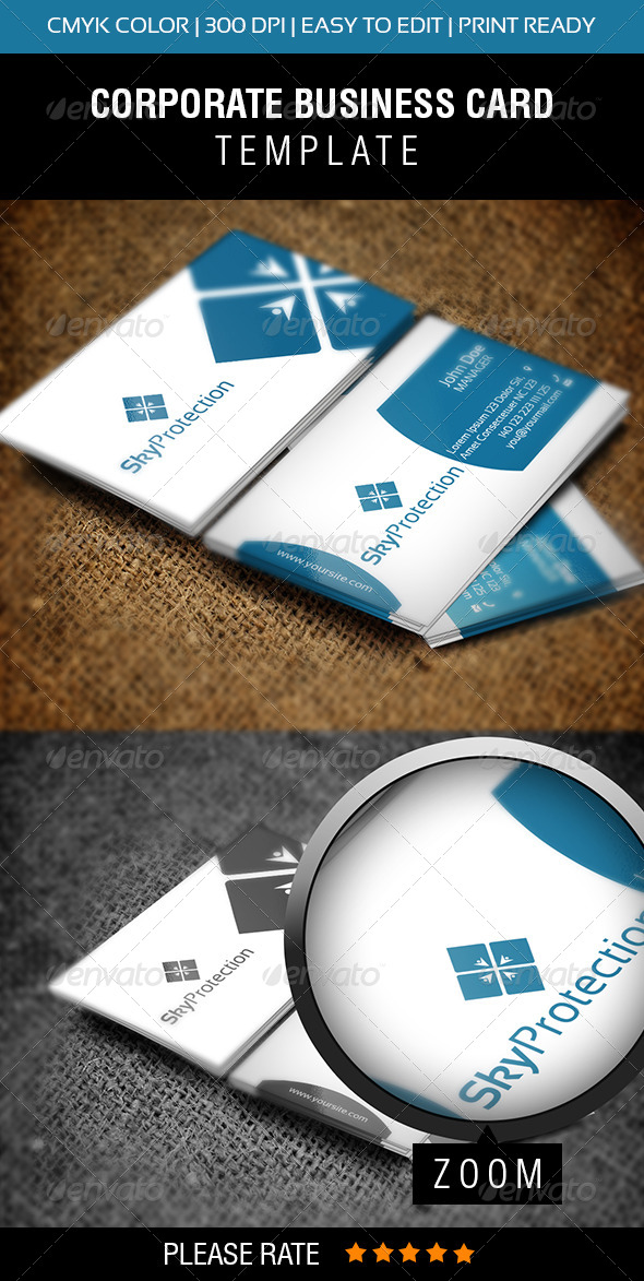 Sky Protection Business Card - Corporate Business Cards