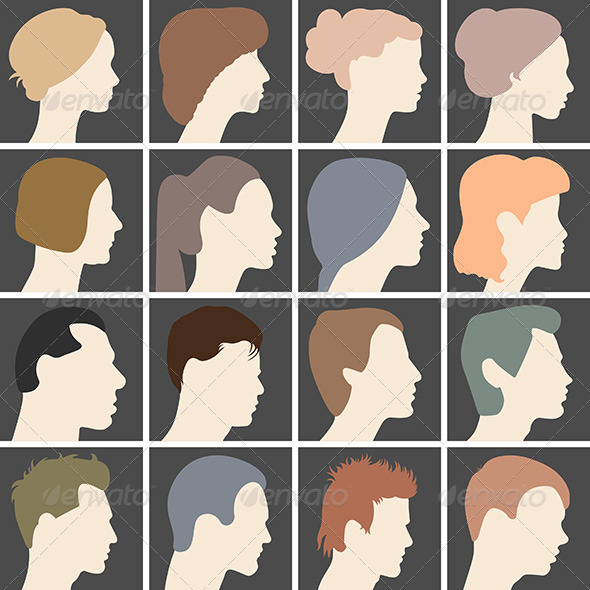 Profiles of Faces - People Characters