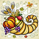 Thanksgiving theme: Harvest cornucopia - GraphicRiver Item for Sale