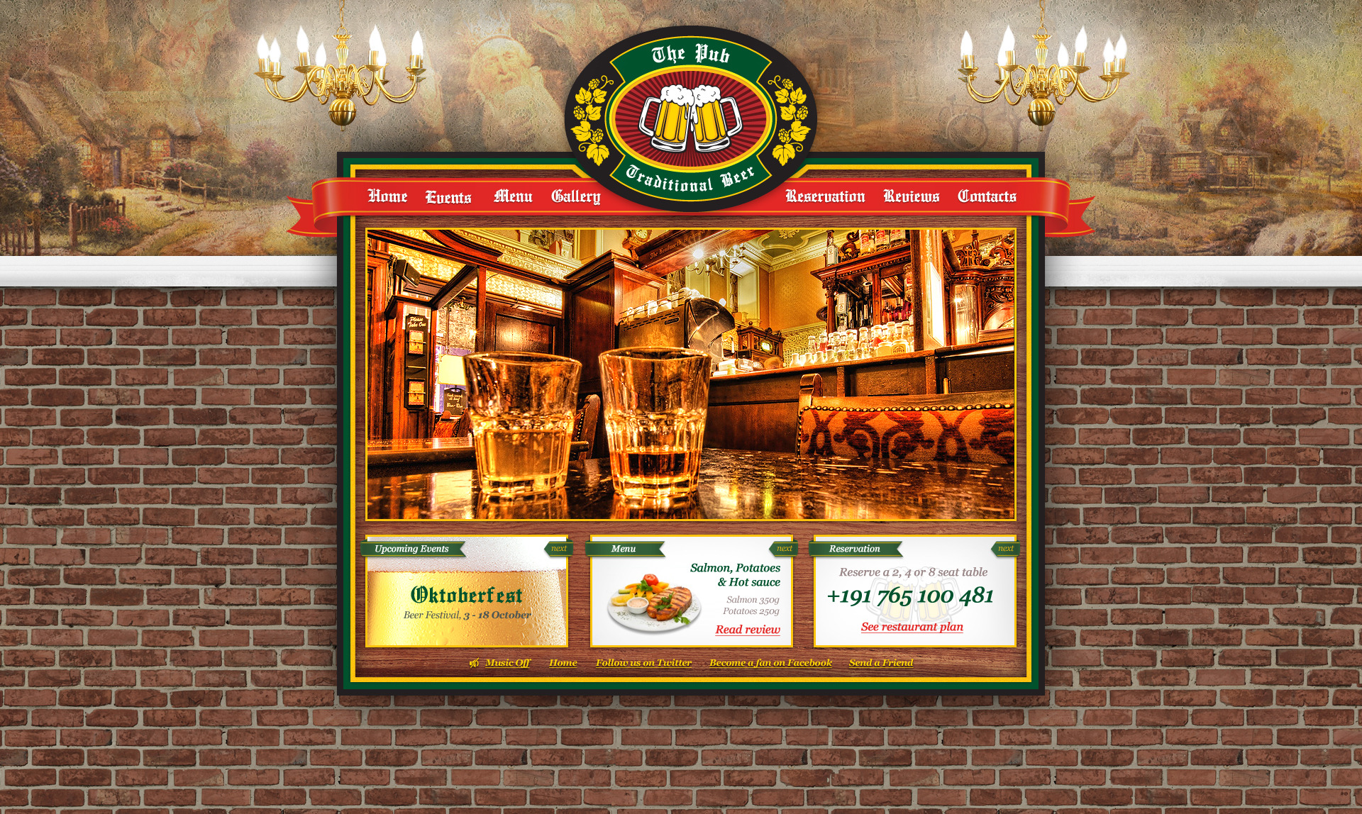The Pub PSD Template by terranetmd | ThemeForest