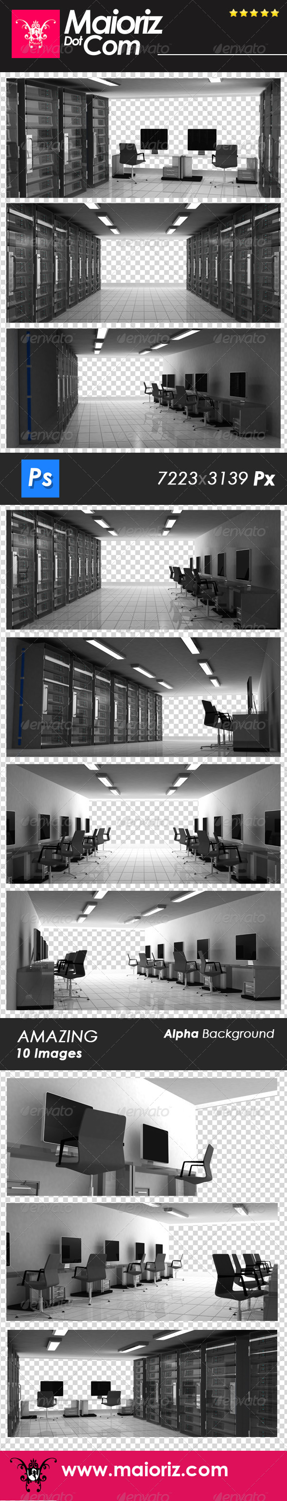 Business Server Room  - Technology 3D Renders