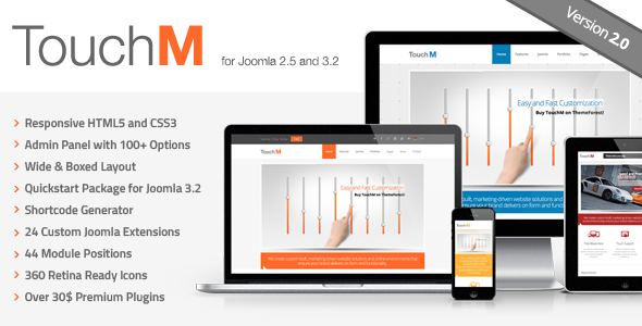 TouchM Responsive Multi-purpose Joomla Template - Retail Joomla