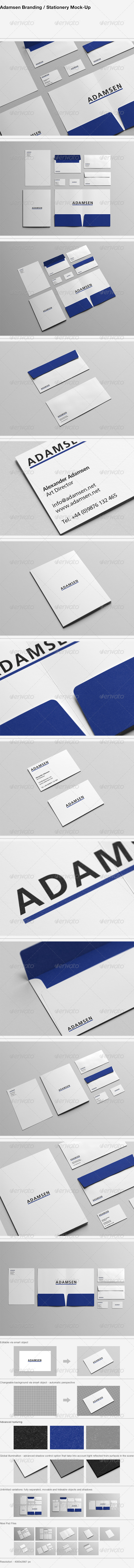 Adamsen - Branding / Stationery Mock-Up - Stationery Print