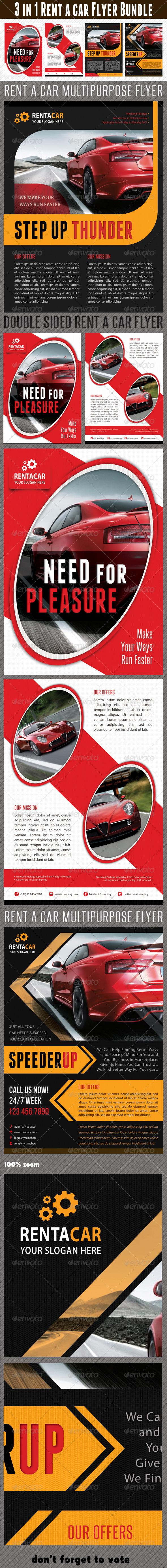3 in 1 Rent A Car Flyer Bundle 02