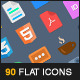 90 Flat Vector Icons - GraphicRiver Item for Sale