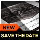 Silver Wedding Save the Date Template - GraphicRiver Item for Sale
