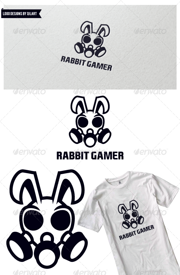 Rabbit Gamer - Animals Logo Templates