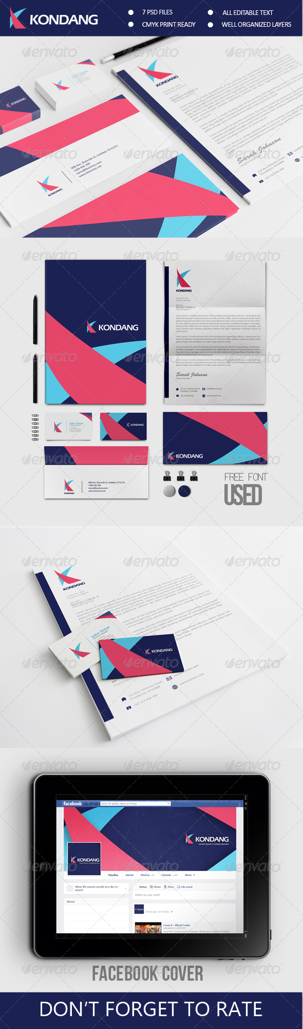 Kondang Corporate Identity - Stationery Print Templates