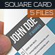 Square business cards set - GraphicRiver Item for Sale